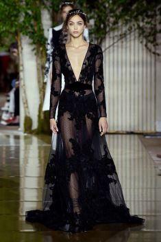 40 Black Mesh Long Dresses Ideas 12