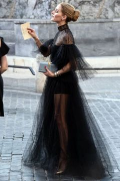 40 Black Mesh Long Dresses Ideas 13