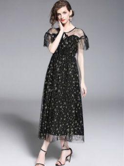 40 Black Mesh Long Dresses Ideas 16