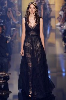 40 Black Mesh Long Dresses Ideas 23