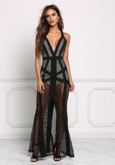 40 Black Mesh Long Dresses Ideas 26
