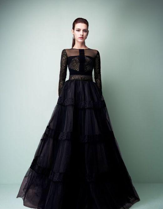 40 Black Mesh Long Dresses Ideas 6
