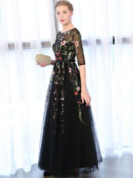 40 Black Mesh Long Dresses Ideas 8