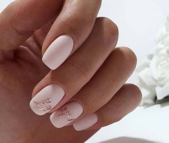 40 Elegant Look Bridal Nail Art Ideas 10