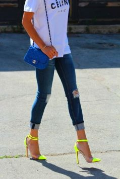 40 How to Wear Neon Shoes Ideas 14