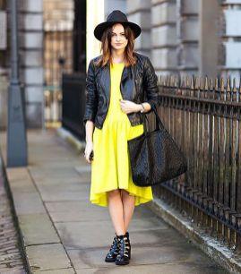 40 How to Wear Tea Lengh Dresses Street Style Ideas 12