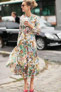40 How to Wear Tea Lengh Dresses Street Style Ideas 4