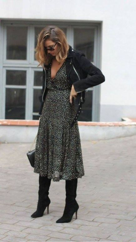 40 How to Wear Tea Lengh Dresses Street Style Ideas 7