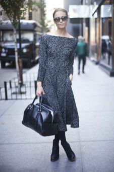 40 How to Wear Tea Lengh Dresses Street Style Ideas 9