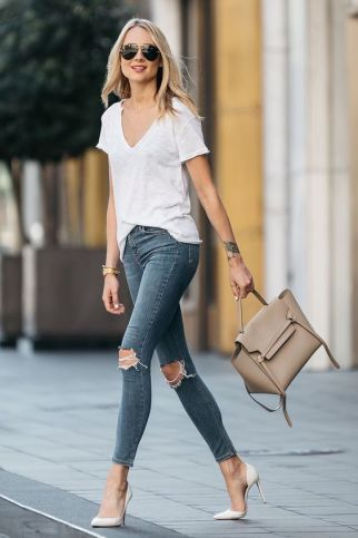 40 Ways to Look Stylish With White Heels Ideas 18