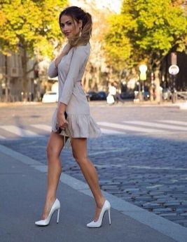 40 Ways to Look Stylish With White Heels Ideas 29