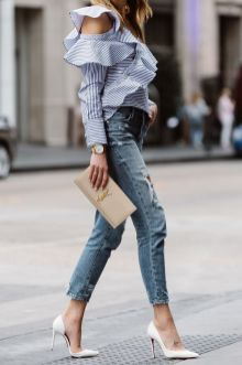 40 Ways to Look Stylish With White Heels Ideas 3