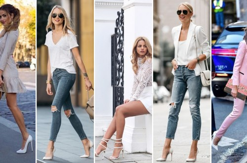 40 Ways to Look Stylish With White Heels Ideas