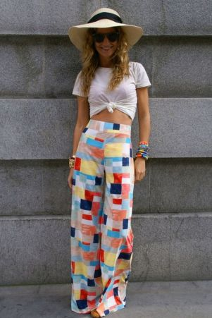 40 Ways to Wear Palazzo Pants for Summer Ideas 15