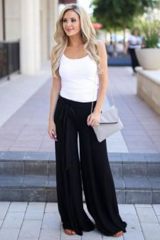 40 Ways to Wear Palazzo Pants for Summer Ideas 16
