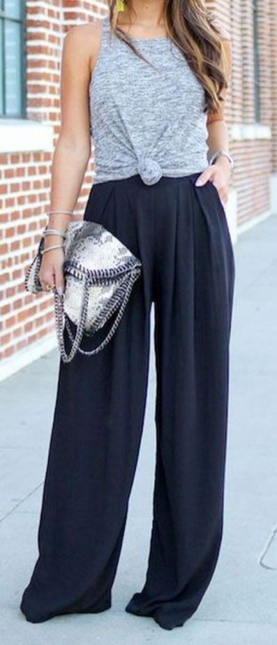 40 Ways to Wear Palazzo Pants for Summer Ideas 26