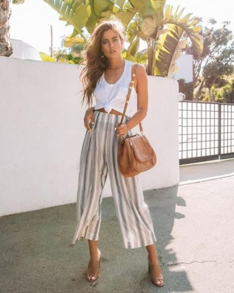 40 Ways to Wear Palazzo Pants for Summer Ideas 3