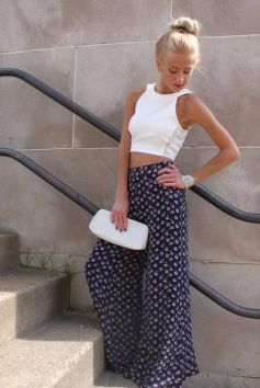 40 Ways to Wear Palazzo Pants for Summer Ideas 30