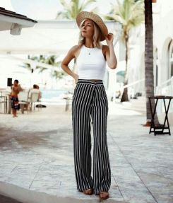 40 Ways to Wear Palazzo Pants for Summer Ideas 40