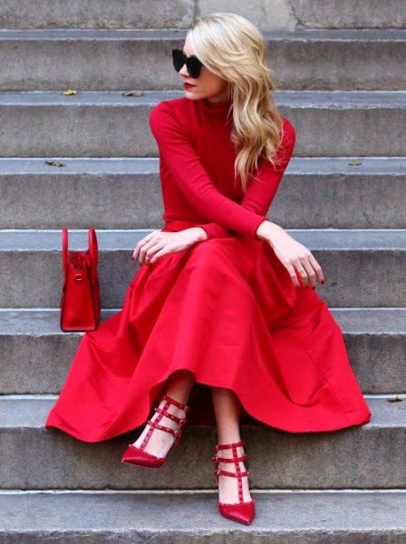 50 Fashionable Red Outfit Ideas 34