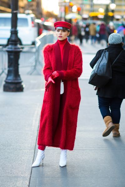 50 Fashionable Red Outfit Ideas 54