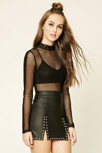 50 How to Wear Black Mesh Tops in Style Ideas 1