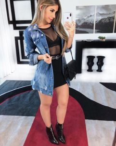 50 How to Wear Black Mesh Tops in Style Ideas 11