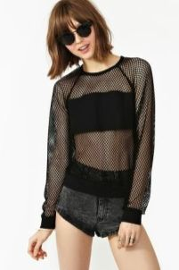 50 How to Wear Black Mesh Tops in Style Ideas 19