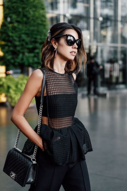 50 How to Wear Black Mesh Tops in Style Ideas 27