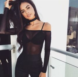50 How to Wear Black Mesh Tops in Style Ideas 38