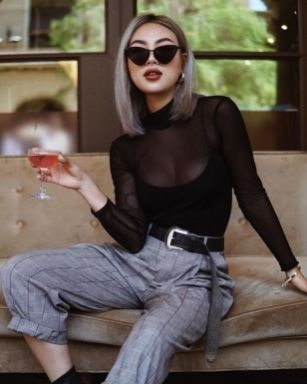 50 How to Wear Black Mesh Tops in Style Ideas 46