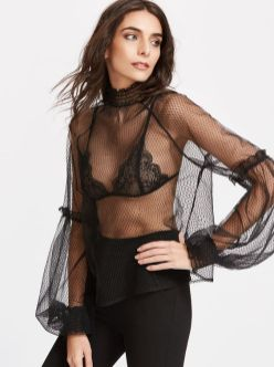 50 How to Wear Black Mesh Tops in Style Ideas 47