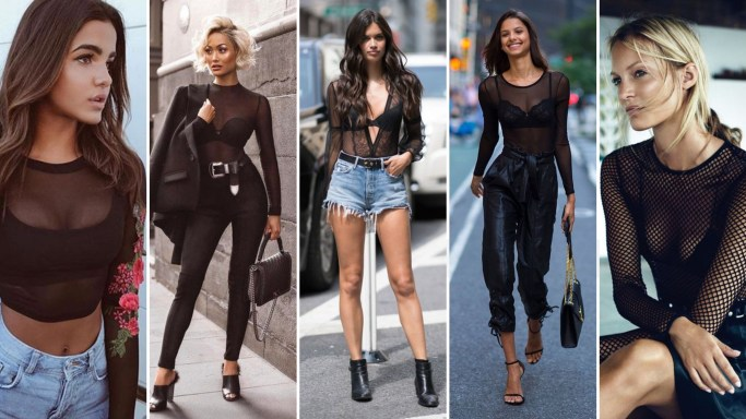 50 How to Wear Black Mesh Tops in Style Ideas