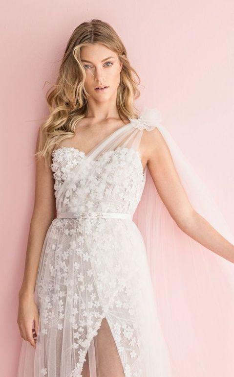 50 One Shoulder Bridal Dresses Ideas 1 1