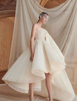 50 One Shoulder Bridal Dresses Ideas 10