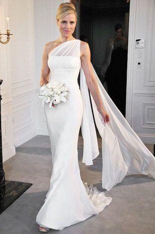 50 One Shoulder Bridal Dresses Ideas 18