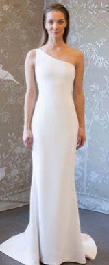 50 One Shoulder Bridal Dresses Ideas 2