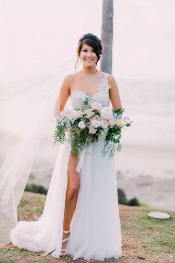 50 One Shoulder Bridal Dresses Ideas 20