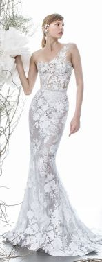 50 One Shoulder Bridal Dresses Ideas 21