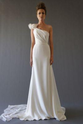 50 One Shoulder Bridal Dresses Ideas 25