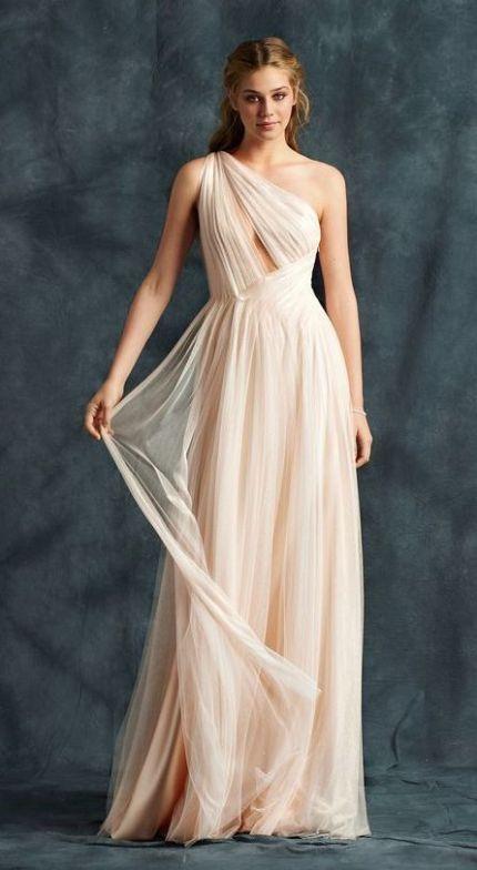 50 One Shoulder Bridal Dresses Ideas 26