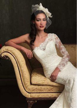 50 One Shoulder Bridal Dresses Ideas 27