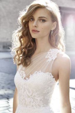 50 One Shoulder Bridal Dresses Ideas 28
