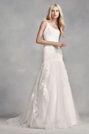 50 One Shoulder Bridal Dresses Ideas 30