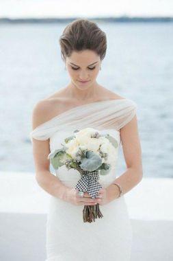 50 One Shoulder Bridal Dresses Ideas 32