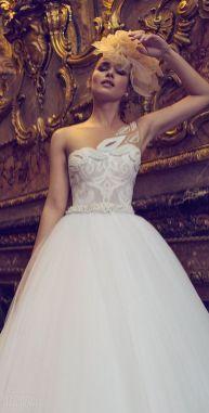 50 One Shoulder Bridal Dresses Ideas 41