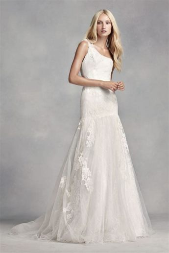 50 One Shoulder Bridal Dresses Ideas 50