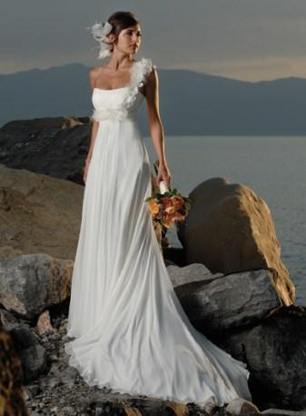 50 One Shoulder Bridal Dresses Ideas 52
