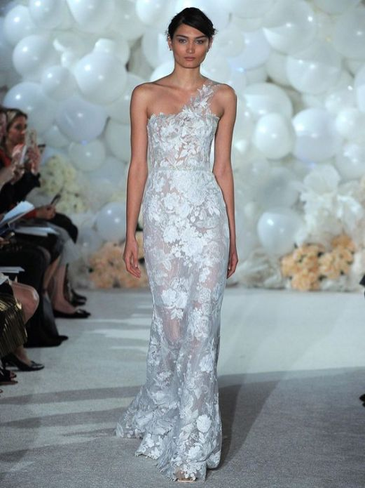 50 One Shoulder Bridal Dresses Ideas 8