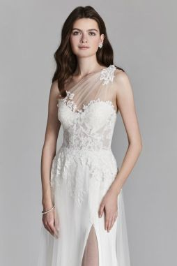 50 One Shoulder Bridal Dresses Ideas 9